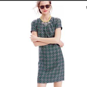 J.Crew// Medallion Lattice Swoop dress, size 12